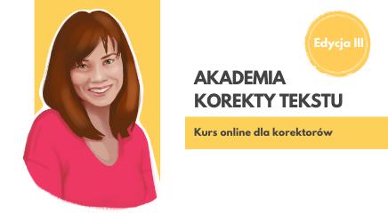 Akademia korekty tekstu - edycja 3
