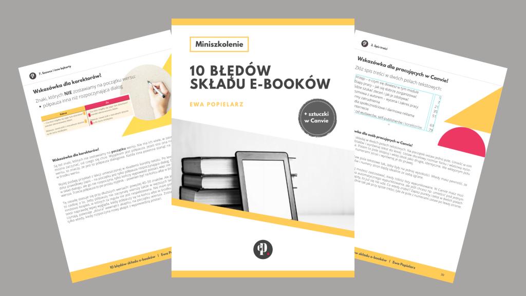 10 błędów składu e-booków e-book kolaż