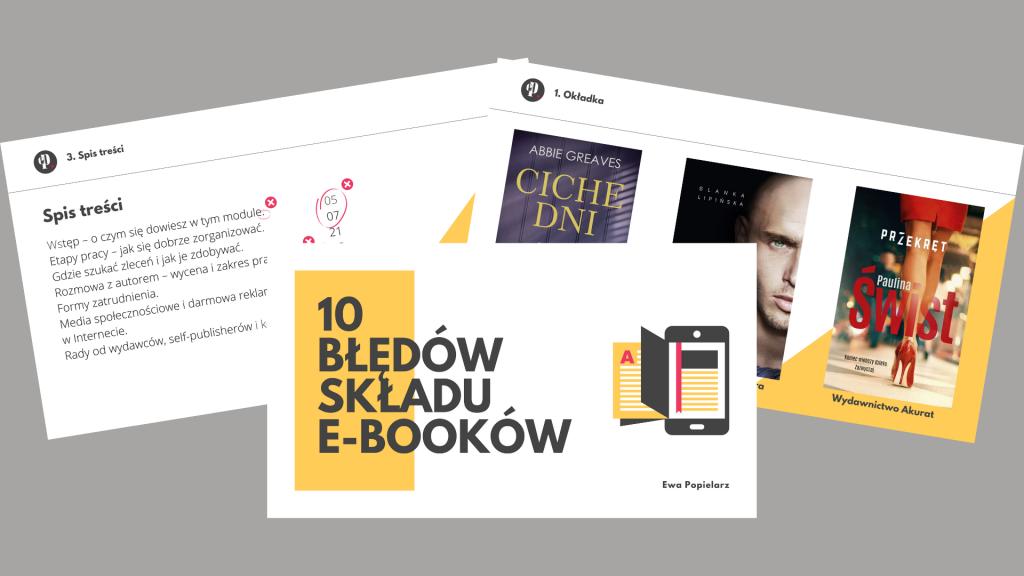 10 błędów składu e-booków prezentacja kolaż