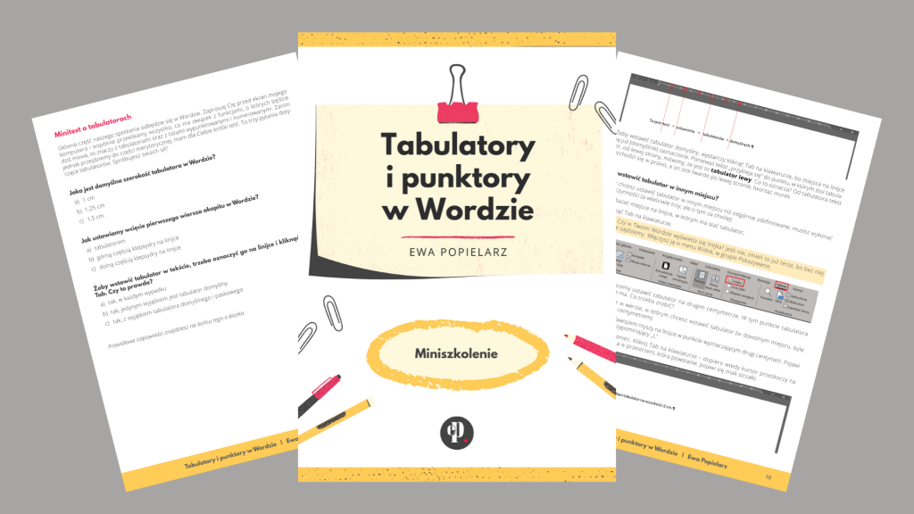Tabulatory i punktory w Wordzie - e-book
