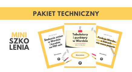 Miniszkolenia dla korektorów - Pakiet techniczny 3 za 2