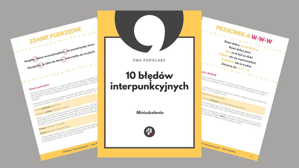 10 błędów interpunkcyjnych e-book