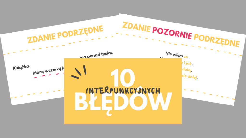 10 błędów interpunkcyjnych prezentacja